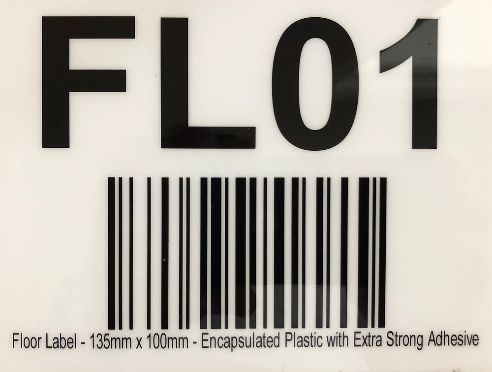 Warehouse location label