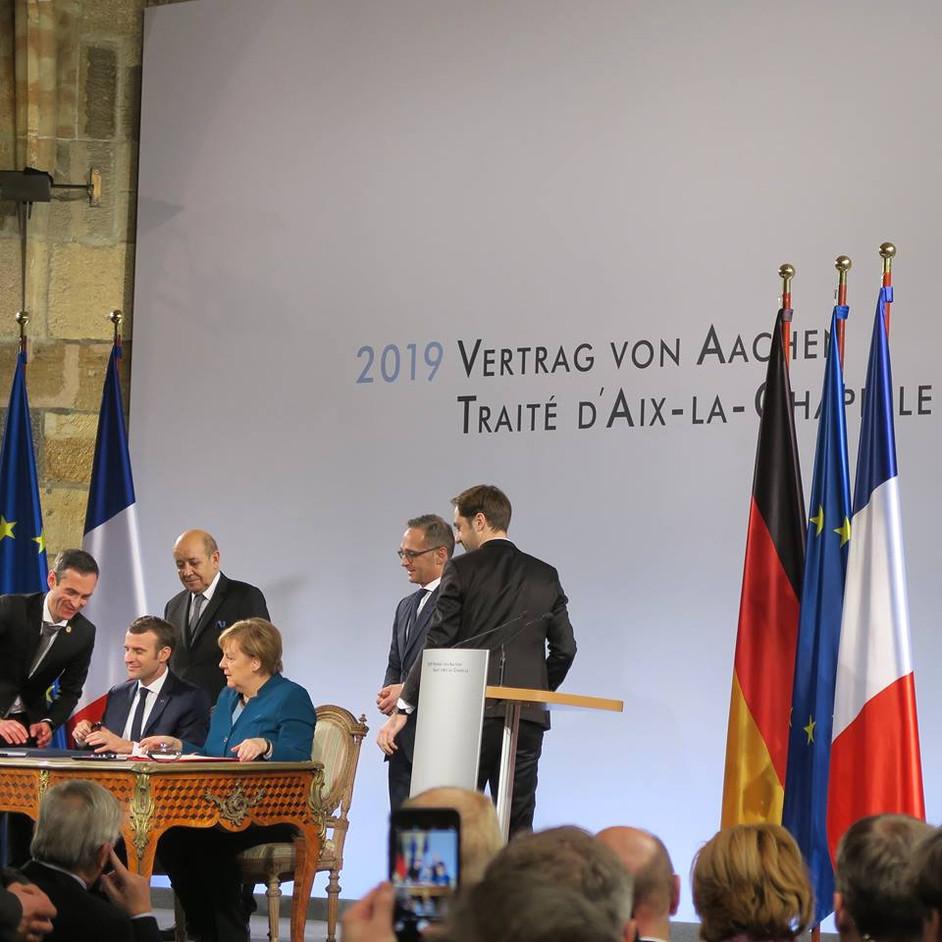 Vertrag von Aachen - und ADAFA war mit dabei   Traité d'Aix-la-Chapelle - et ADAFA était présent