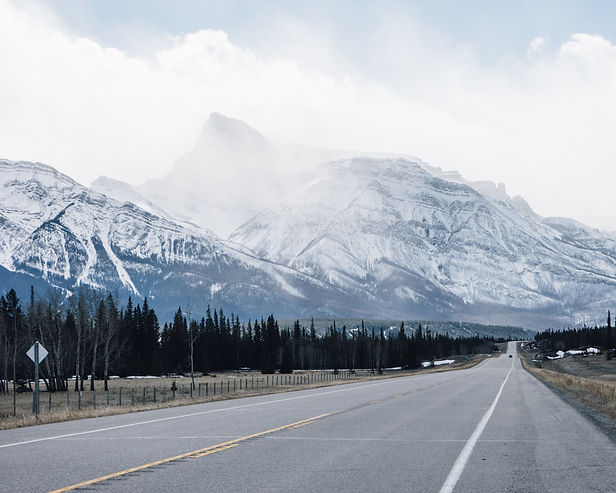 canada rockies rocky mountains snowfields parkway spring