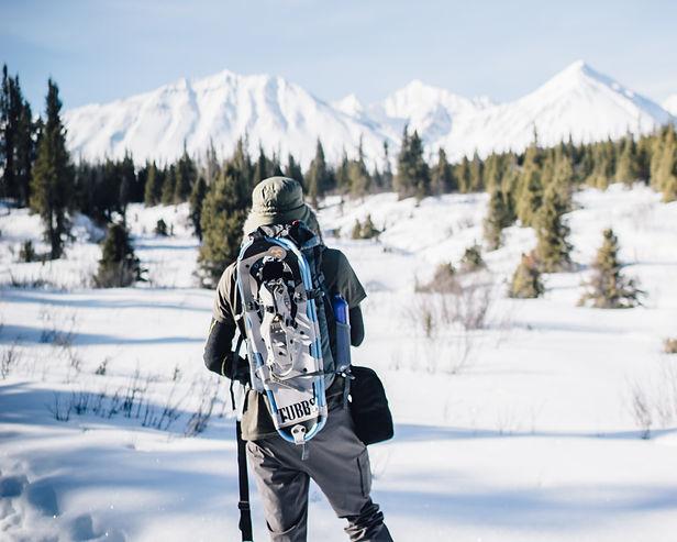 yukon kluane national park snowshoeing hiking spring camping