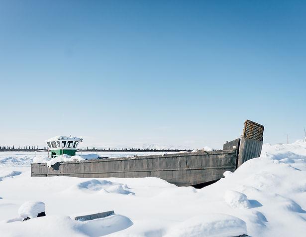 dempster highway winter arctic canada yukon nwt border ice aklavik inuvik ice road