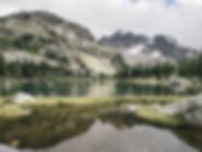 valhalla provincial park lake reflection bc alpine mountain