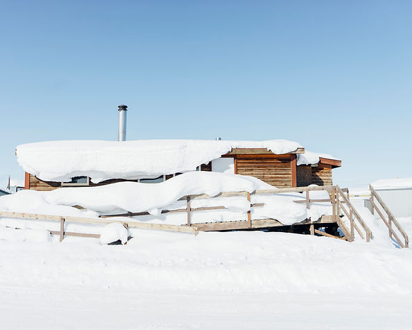 aklavik cabin house arctic canada northwest territories winter