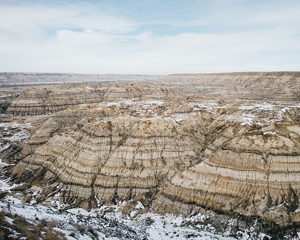 canada alberta badlands drumheller horsethief canyon winter