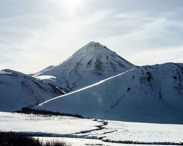 tombstone territorial park yukon canada winter dempster highway arctic circle