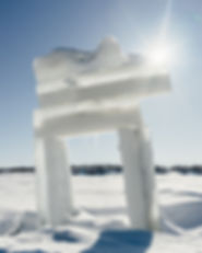 dempster highway winter arctic canada yukon nwt border inushuk inuksuk ice aklavik inuvik ice road