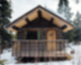 whitehorse yukon cabin winter snow