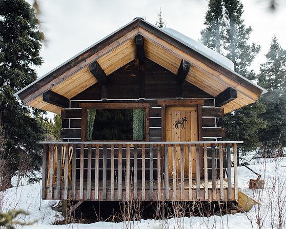 whitehorse yukon cabin winter snow