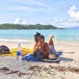 Beach bum 💙 #bluesky #kohsamui #beachpl