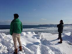 札幌T&Iサーフショップのチーム員は真冬の海も楽しくサーフィンしております