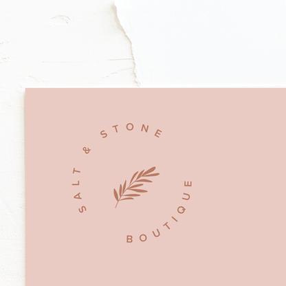 Botanical Logo & Brand Identity Design   Feminine Brand Identity Design   Premade Logo & Branding Kits for Female Businesses, Creatives and Wellbeing Solopreneurs