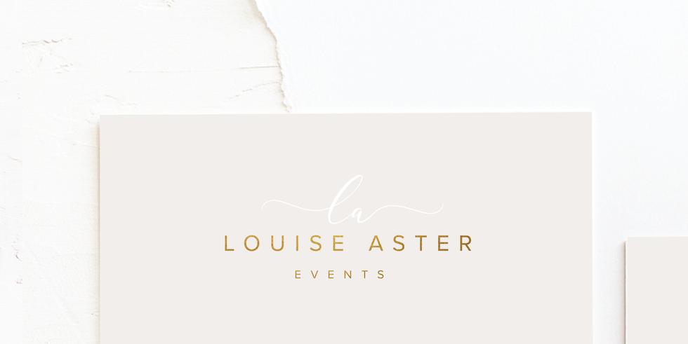 Wedding Planner & Event Organiser Business Logo   Feminine Brand Identity Design   Premade Logo & Branding Kits for Creatives and Wellbeing  Businesses