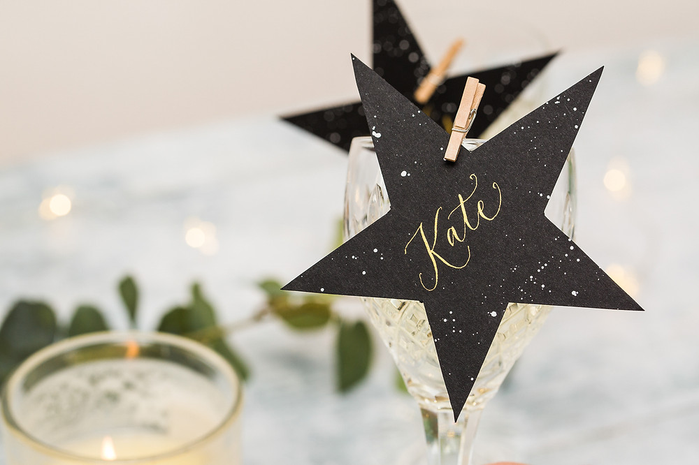 Christmas Calligraphy Details | Brand Photography for Judy Broad Calligraphy By Fresh Leaf Creative | Personalised Calligraphy Place Settings
