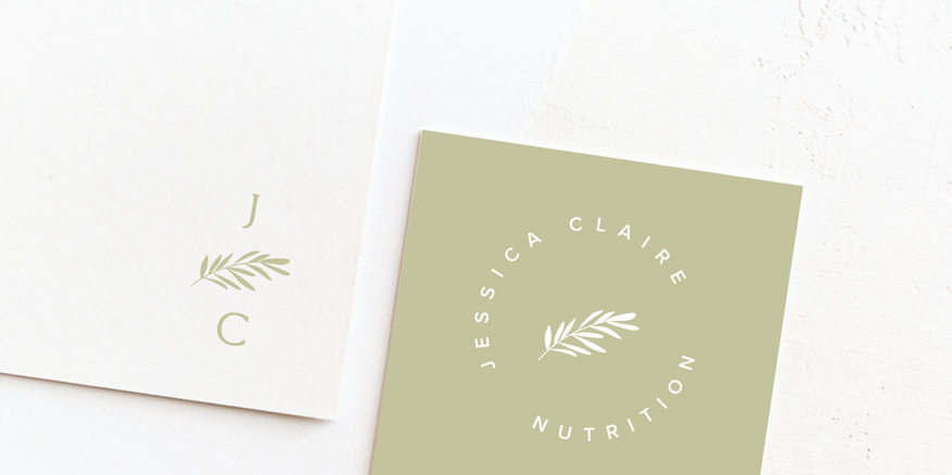 Nutritionist Botanical Logo & Brand Identity Design | Feminine Brand Identity Design | Premade Logo & Branding Kits for Female Businesses, Creatives and Wellbeing Solopreneurs