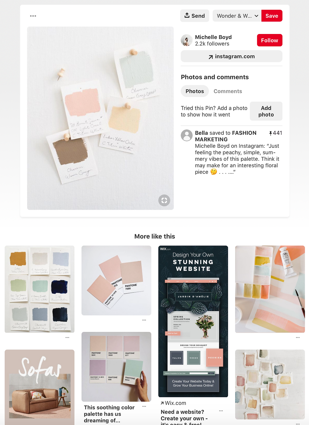 How to use Pinterest to gather your brand inspirations | Fresh Leaf Creative Brand Identity Design & Personal Brand Photographer Surrey & South East