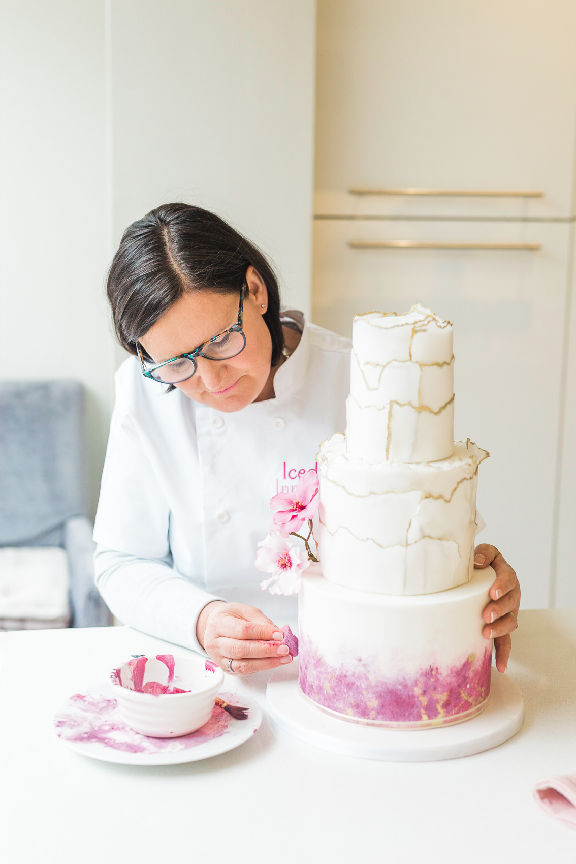 Cake Maker & Bakery Brand Photographer Surrey & London | Brand Photography for Erica at Iced Innovations Cakes
