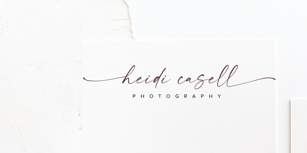Photographer Logo & Brand Identity Design in plum| Feminine Brand Identity Design | Premade Logo & Branding Kits for Female Businesses, Creatives and Wellbeing Solopreneurs