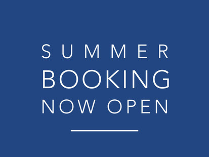 Availability update - Spring/Summer sessions now open for booking