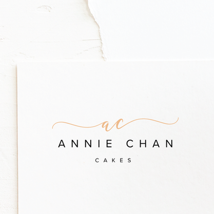 Cake Maker & Bakery Logo & Brand Design | Minimal, Classic Premade Branding Kits for Female Business Owners For Instant Impact | Fully Customised For Colour Palette and Company Details