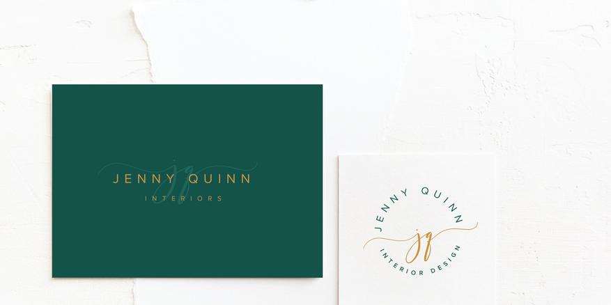 Minimal Interior Designer Business Logo | Feminine Brand Identity Design | Premade Logo & Branding Kits for Creatives and Wellbeing  Businesses