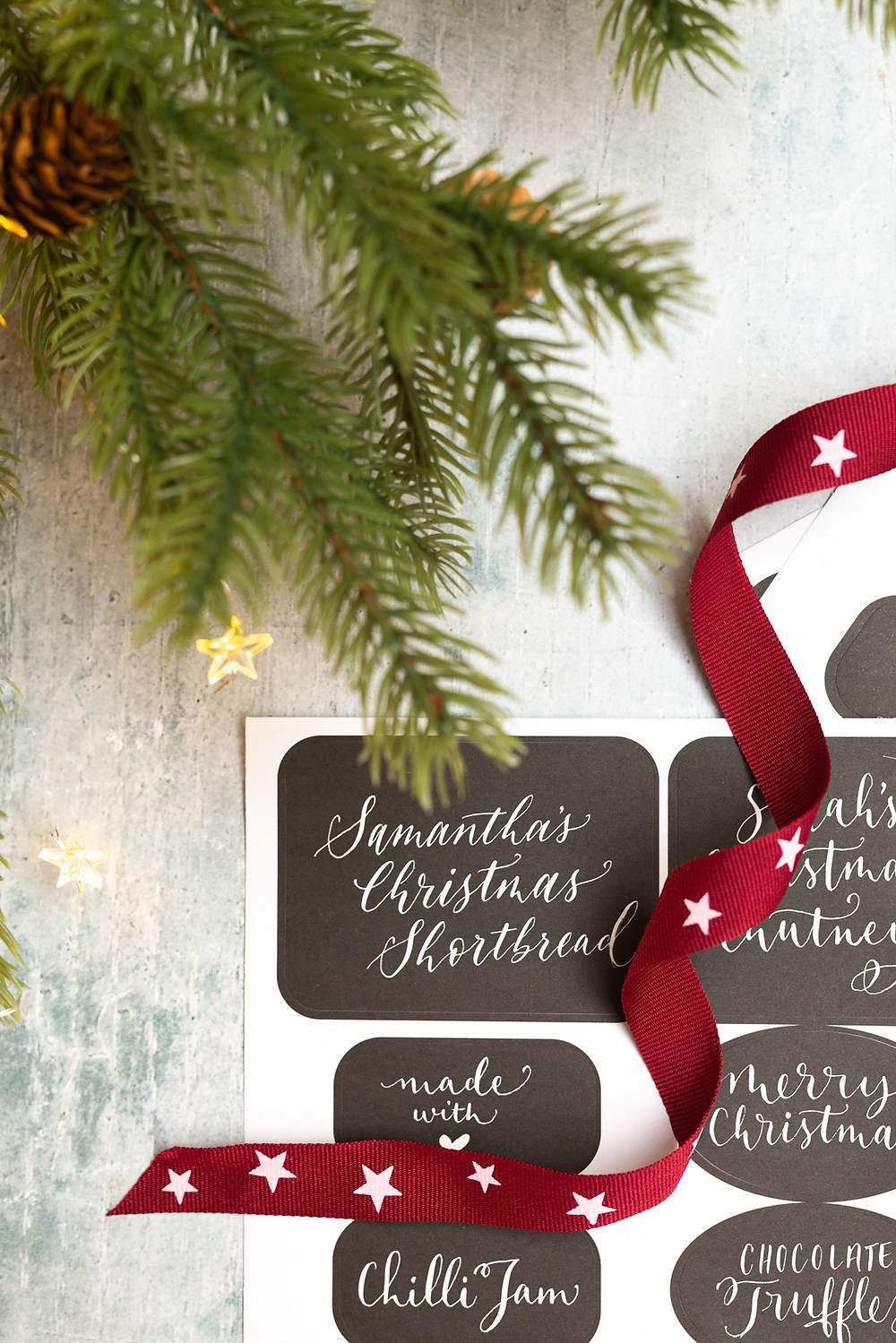 Christmas Calligraphy Details | Brand Photography for Judy Broad Calligraphy By Fresh Leaf Creative | Calligraphy DIY Christmas Labels