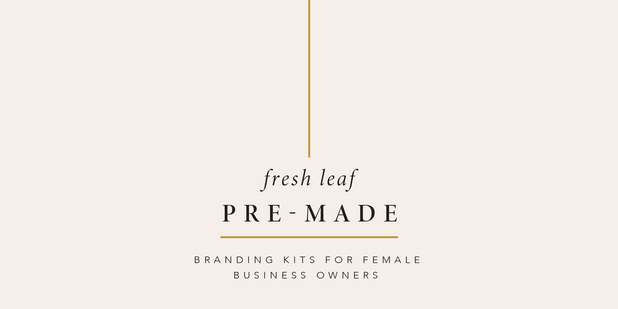 Premade branding kits for female businesses and freelancers