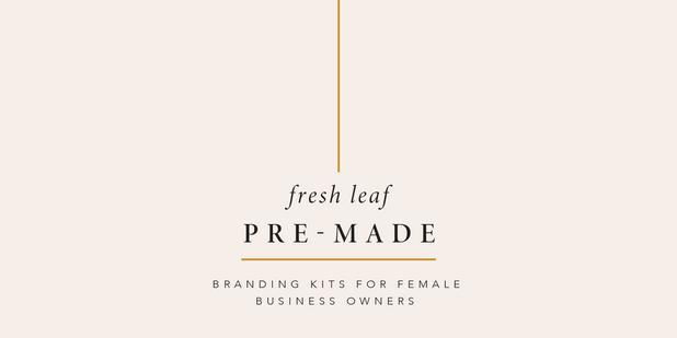 UK Premade branding kits for female businesses and freelancers | Fresh Leaf Creative