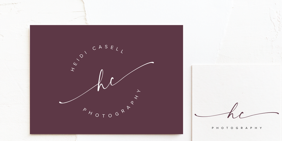 Photographer Logo & Brand Identity Design in plum | Feminine Brand Identity Design | Premade Logo & Branding Kits for Female Businesses, Creatives and Wellbeing Solopreneurs