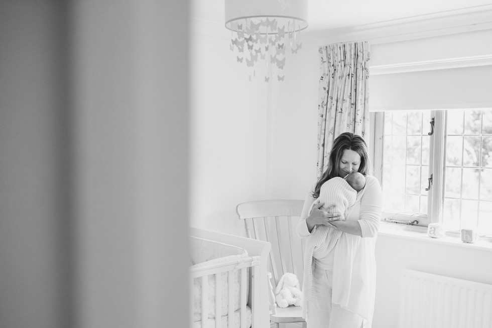 Newborn photography Oxshott | Natural light baby photography in your home