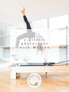 London & Surrey Pilates Brand Photographer | Pilates photoshoot in Cobham Surrey with pilates instructor Marina | Pilates Photography Surrey