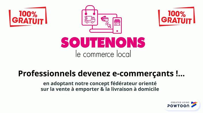"""""""soutenons le commerce local"""" est un marketplace fédérateur diffusé sur les Alpes-Maritimes qui regroupe les offres des commerçants locaux pour les ventes à emporter et les livraisons à domicile, le e-commerce, les deals et les conditions de fidélisation..."""