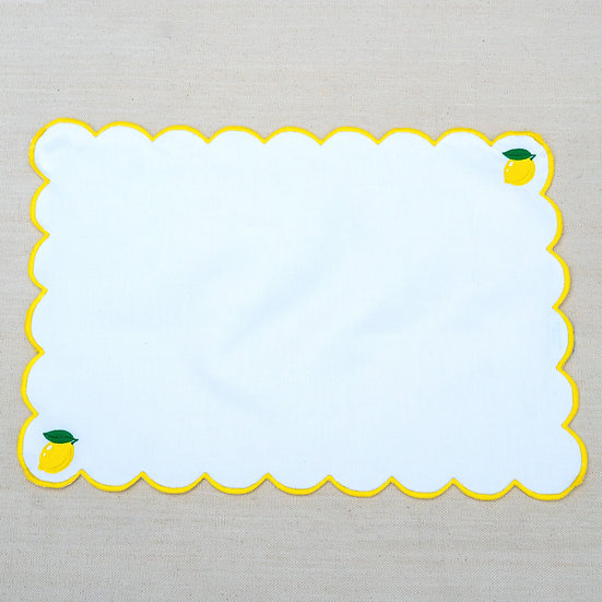 Embroidered Scallop Edge Placemats