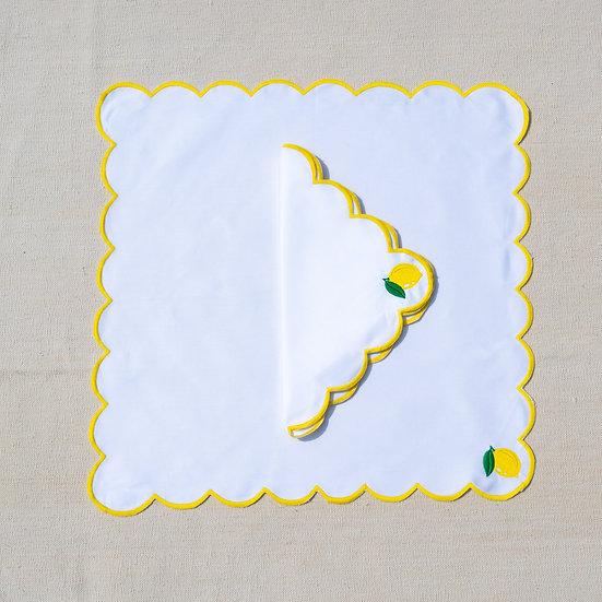 Embroidered Scallop Edge Napkins