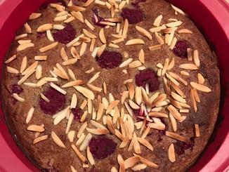 Raspberry Teff Cake