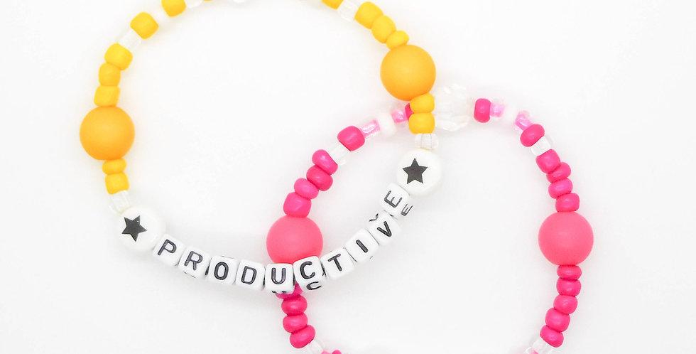 'Productive AF' bracelet duo