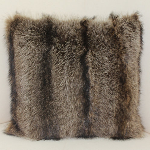 Genuine Raccoon Fur Pillow