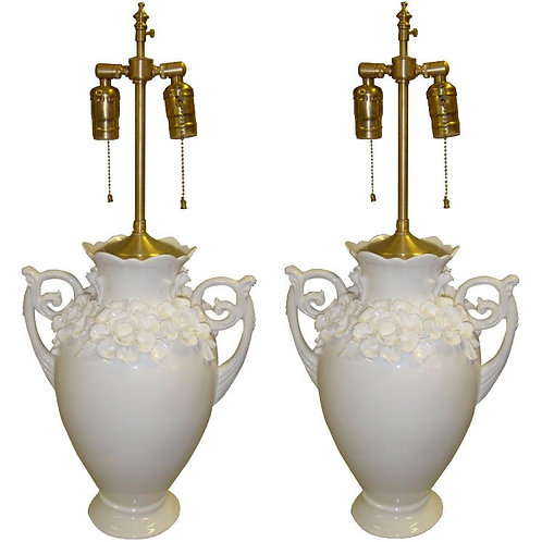 Pair of 1970's of Urns with lamp application