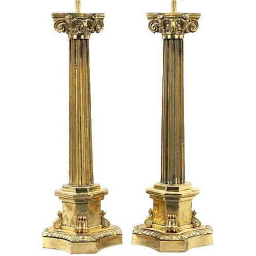 Corinthian Column Lamps