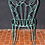 Thumbnail: Unique Pair of Very Stylish Mottled Green Powder Coated Patio Chairs