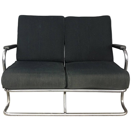 Kem Webber Chrome TUbe Sofa from Lloyd Manufacturing