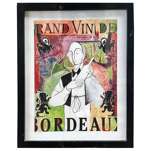 Grand Vin De Bordeaux Artists Proof by Ken Maryanski