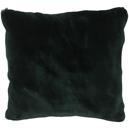 Luxurious Down Filled Green Genuine Sheared Beaver Throw Pillows 14""
