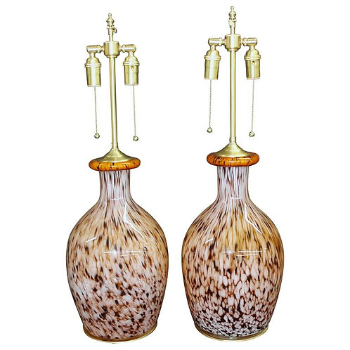 Beautiful Handblown Glass Vessels with Lamp Application