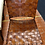 Thumbnail: Pair of Bar Stools in Woven Saddle Brown Leather