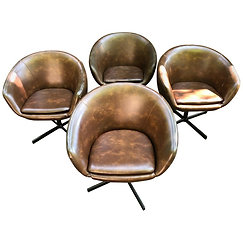 Set of 4 Swivel Tub Chairs by Shelby Williams
