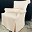 Thumbnail: Stately and Elegant Club Chair in a Pale Apricot Weave with Contrast Skirting