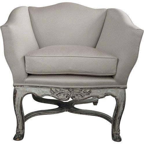 "Pair of Hollywood Regency ""Tulip"" Arm Chairs on Louis XVI carved legs"