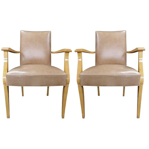 Pair of French 40's Ash arm chairs