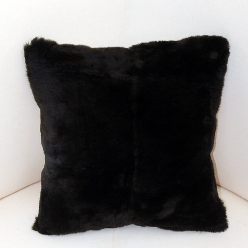 Genuine Green Sheared Beaver Fur Pillow