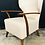 Thumbnail: Unusual Pair of Restored Vintage Wing Chairs in Matched Leather and Woven Fabric